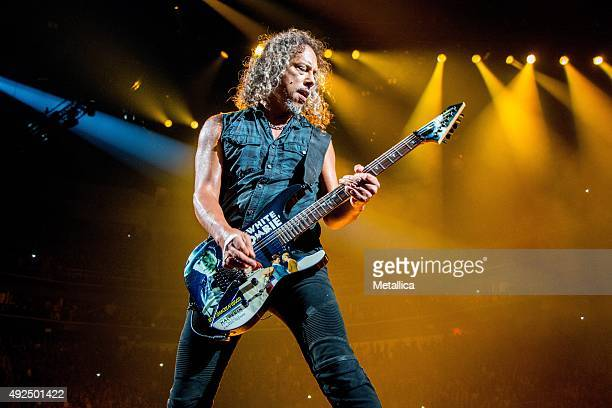 Kirk Hammett of Metallica performing at Centre Videotron on September 16 2015 in Quebec City Canada