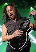 Kirk Hammett of Metallica performs at Day Four of the bands' 30th Anniversary shows at The Fillmore on December 10 2011 in San Francisco California