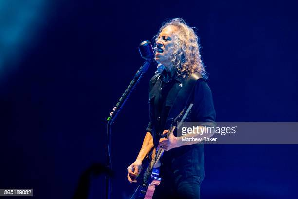 Kirk Hammett of Metallica performs live on stage at The O2 Arena on October 22 2017 in London England