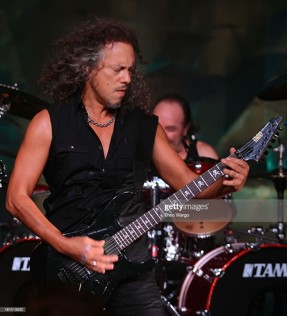 Kirk Hammett of Metallica performs private, exclusive concert for SiriusXM listeners at The Apollo Theater on September 21, 2013 in New York City.