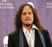Kirk Hammett of Metallica presenter during 21st Annual Rock and Roll Hall of Fame Induction Ceremony Press Room at The WaldorfAstoria in New York...