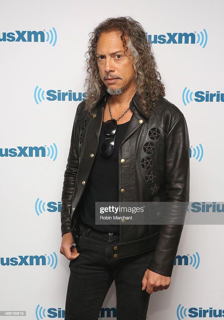 Kirk Hammett of Metallica visits at SiriusXM Studios on April 14, 2015 in New York City.