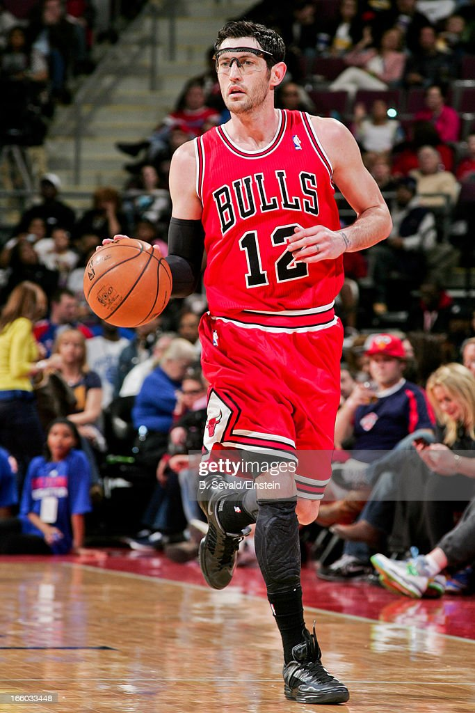 <a gi-track='captionPersonalityLinkClicked' href=/galleries/search?phrase=Kirk+Hinrich&family=editorial&specificpeople=201629 ng-click='$event.stopPropagation()'>Kirk Hinrich</a> #12 of the Chicago Bulls advances the ball against the Detroit Pistons on April 7, 2013 at The Palace of Auburn Hills in Auburn Hills, Michigan.