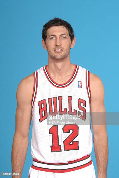Kirk Hinrich of the Chicago Bulls poses for a portrait as part of 201213 Media Day on October 1 2012 at the Sheri L Berto Center in Deerfield...