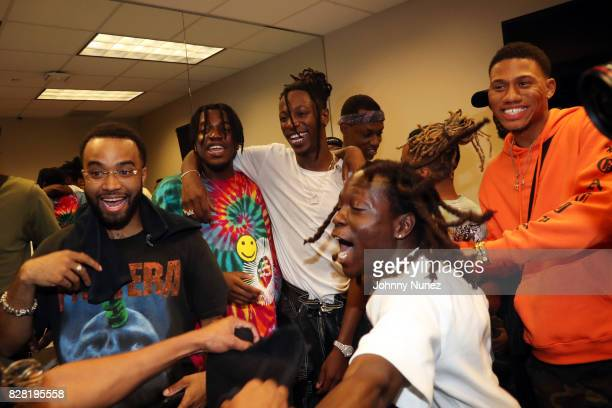 Kirk Knight and Joey Bada$$ backstage at Barclays Center on August 8 2017 in New York City