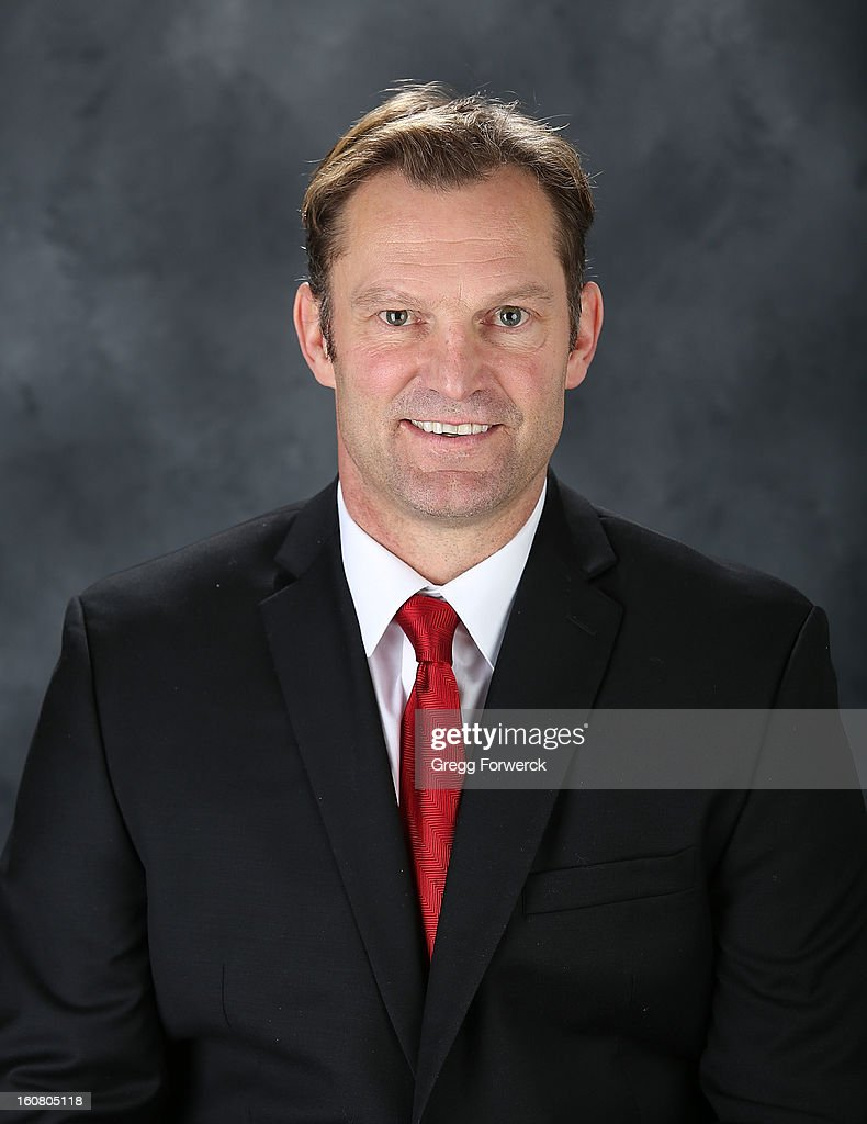 <a gi-track='captionPersonalityLinkClicked' href=/galleries/search?phrase=Kirk+Muller&family=editorial&specificpeople=221687 ng-click='$event.stopPropagation()'>Kirk Muller</a>, head coach of the Carolina Hurricanes, poses for his official headshot for the 2013 season on January 13,2013 in Raleigh, North Carolina.