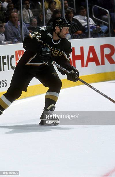 Kirk Muller of the Dallas Stars skates on the ice during an NHL game against the Los Angeles Kings on April 7 2000 at the Staples Center in Los...