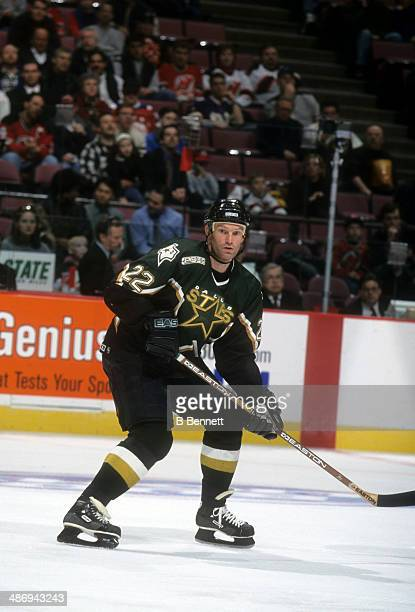 Kirk Muller of the Dallas Stars skates on the ice during an NHL game against the New Jersey Devils on March 15 2000 at the Continental Airlines Arena...
