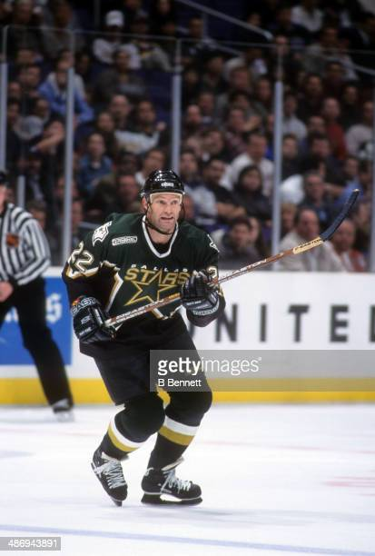 Kirk Muller of the Dallas Stars skates on the ice during an NHL game against the Los Angeles Kings on January 20 2000 at the Staples Center in Los...
