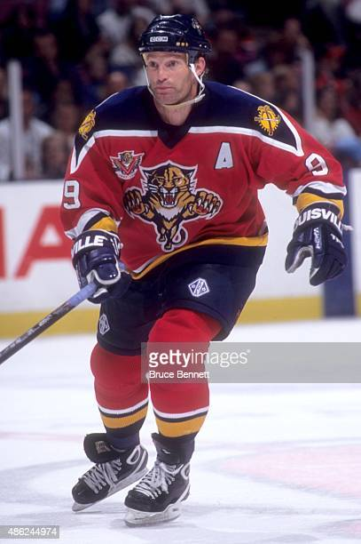 Kirk Muller of the Florida Panthers skates on the ice during an NHL game against the New Jersey Devils on April 12 1998 at the Continental Airlines...