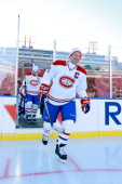 Kirk Muller of the Montreal Canadiens Alumni team takes the ice for the 2011 Tim Hortons Heritage Classic Alumni Game at McMahon Stadium on February...