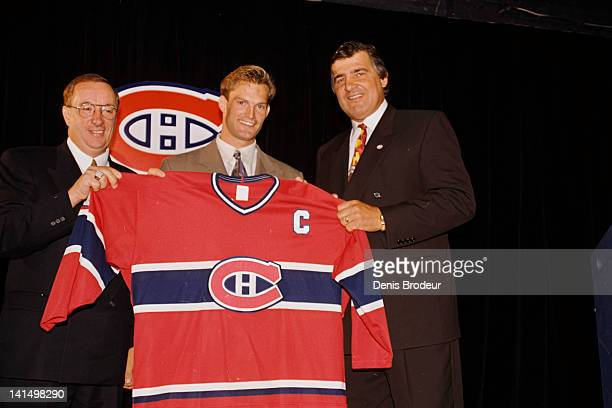 Kirk Muller of the Montreal Canadiens poses for a photo after being named Captain of the Montreal Canadiens in 1994 at the Montreal Forum in Montreal...
