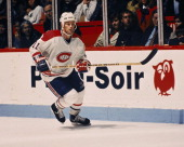 Kirk Muller of the Montreal Canadiens skates Circa 1990 at the Montreal Forum in Montreal Quebec Canada