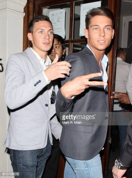 Kirk Norcross and Joey Essex depart Funky Buddha on October 18 2011 in London England