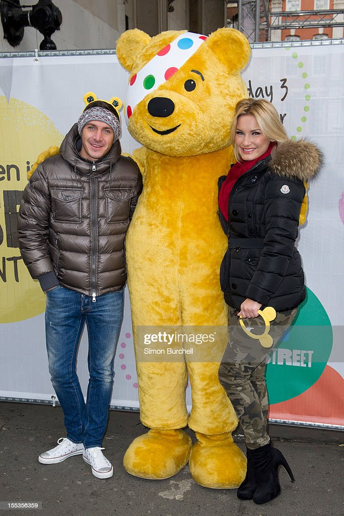 Kirk Norcross and Sam Faiers attend at the BBC Children In Need Pudsey Street event at Covent Garden on November 3, 2012 in London, England.