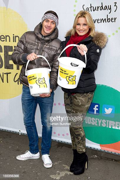 Kirk Norcross and Sam Faiers attend at the BBC Children In Need Pudsey Street event at Covent Garden on November 3 2012 in London England