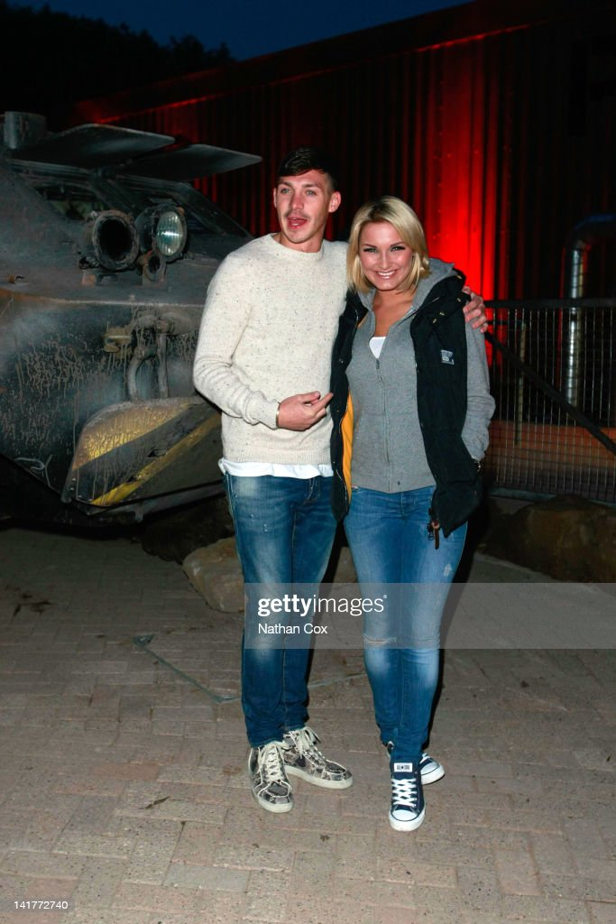 Kirk Norcross and Sam Faiers attend the launch of Alton Towers theme park's new attraction - Nemesis Sub-Terra at Alton Towers on March 23, 2012 in Alton, England.