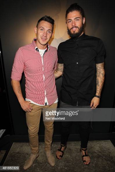 Kirk Norcross and Sam Reece at Buddha Bar for the launch of their New Wellness Menu on July 1 2014 in London England