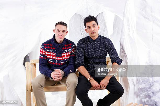 Kirk Norcross and Zack Knight on set of the recording of the music video for 'Who You Are This Xmas' by Kirk Norcross Zack Knight on December 18 2014...