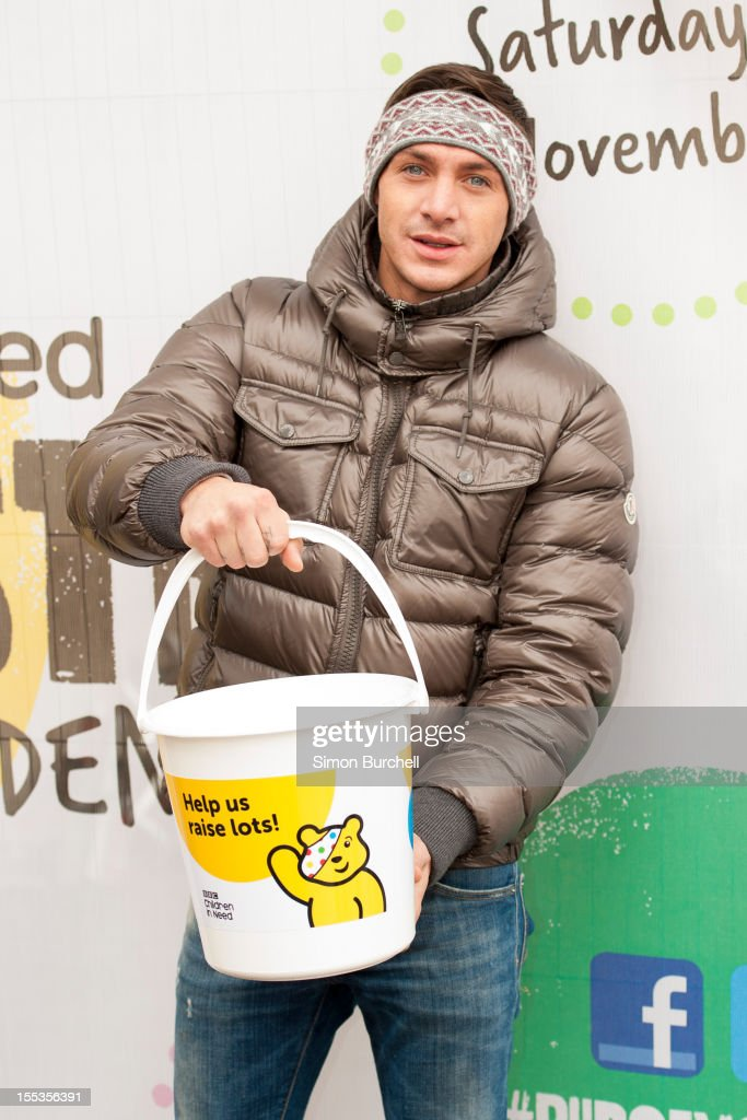 Kirk Norcross attend at the BBC Children In Need Pudsey Street event at Covent Garden on November 3, 2012 in London, England.