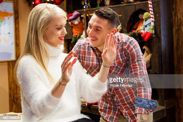 Kirk Norcross on set of the recording of the music video for 'Who You Are This Xmas' by Kirk Norcross Zack Knight on December 18 2014 in London...