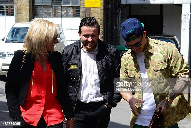 Kirk Norcross sighted arriving at a recording studio with producers from Young Money Entertainment on May 12 2014 in London England