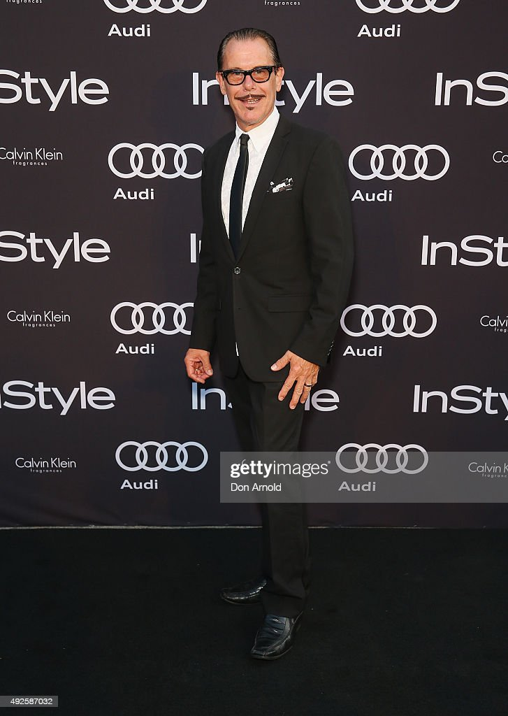Kirk Pengilly arrives ahead of the InStyle and Audi Man of Style Awards 2015 on October 14, 2015 in Sydney, Australia.