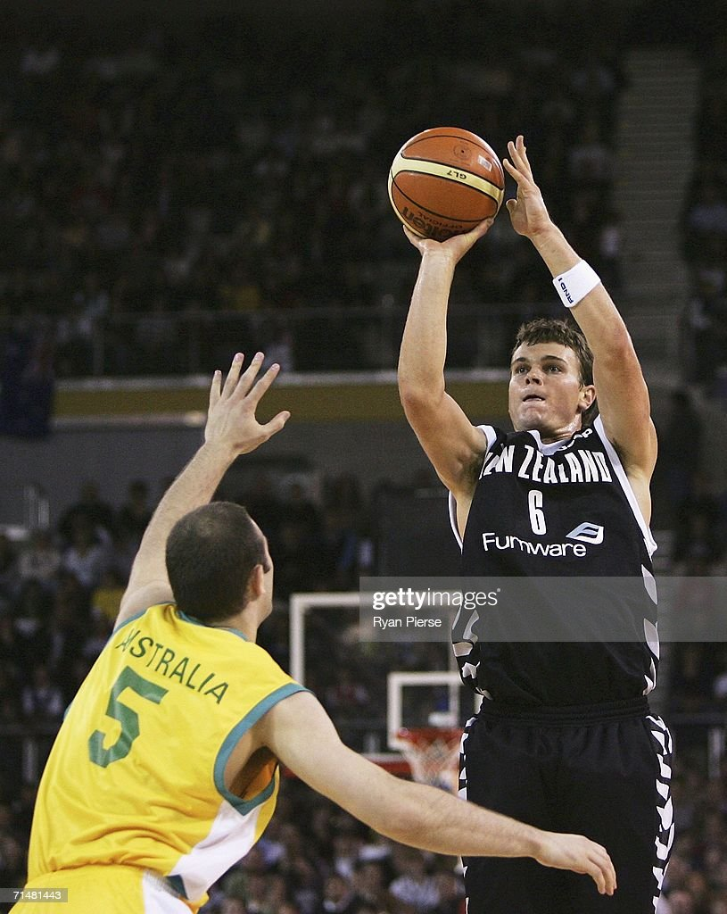 Kirk Penny of the Tall Blacks shoots during the Resi Mortgage Test Series match between the Australian Boomers and the New Zealand Tall Blacks at Vodafone Arena July 19, 2006 in Melbourne, Australia.