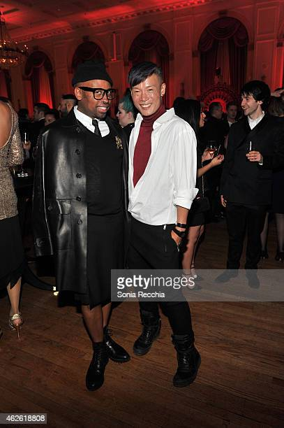 Kirk Pickersgill Stephen Wong of Greta Constantine attend Marc Jacobs beauty debuts new lipstick at 2015 Canadian Arts And Fashion Awards at Fairmont...