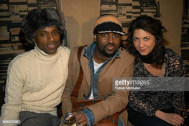 Kirk ShannonButts Darius Baptist and Brigitte Segura attend HOUSE de LUX Fall 2007 Women's ReadytoWear Collection at SoHo House on March 8 2007 in...