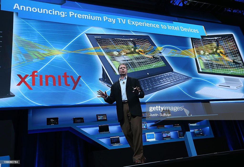 Kirk Skaugen, Intel Vice President, General Manager PC Client Group, speaks during an Intel press conference at the 2013 International CES at the Mandalay Bay Convention Center on January 7, 2013 in Las Vegas, Nevada. CES, the world's largest annual consumer technology trade show, runs from January 8-11 and is expected to feature 3,100 exhibitors showing off their latest products and services to about 150,000 attendees.