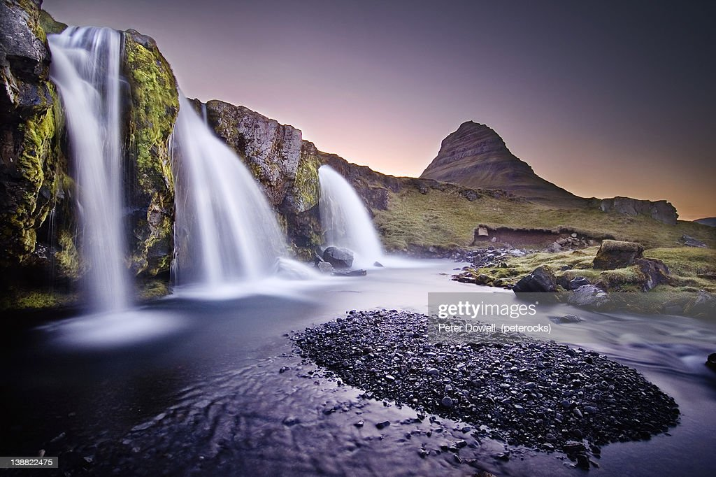 Kirkjufell Foss : Stock Photo