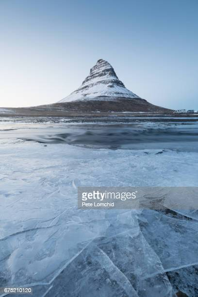 Kirkjufell winter mountain