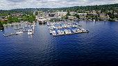 Kirkland, WA Waterfront Boats at the Marina on Lake Washington