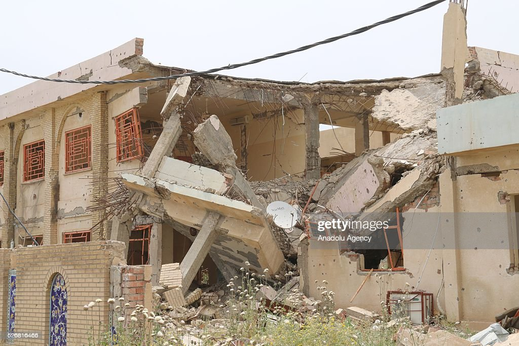 Kirkuk's Beshir village is seen after Shia Hashdi Shabi and Peshmergas forces retrieve it from Daesh in Kirkuk, Iraq on May 1, 2016.