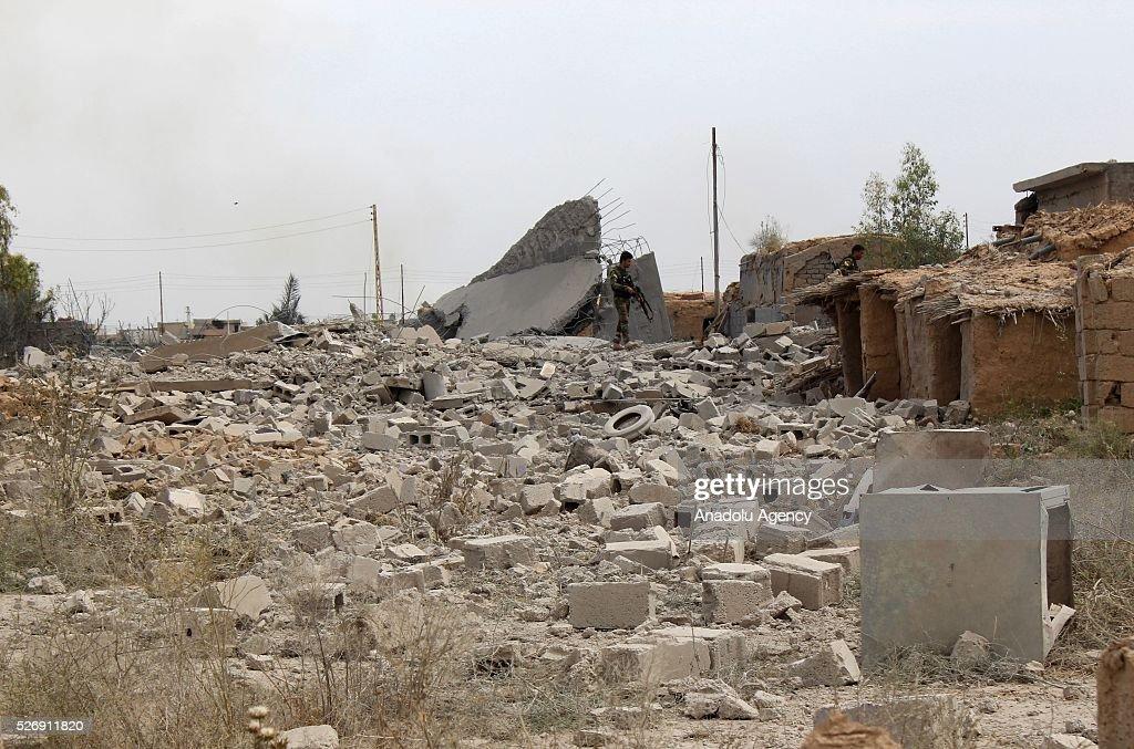 Kirkuk's Beshir village is seen after Shia Hashdi Shabi and Peshmergas forces retrieve it from Daesh in Kirkuk, Iraq on May 1, 2016.