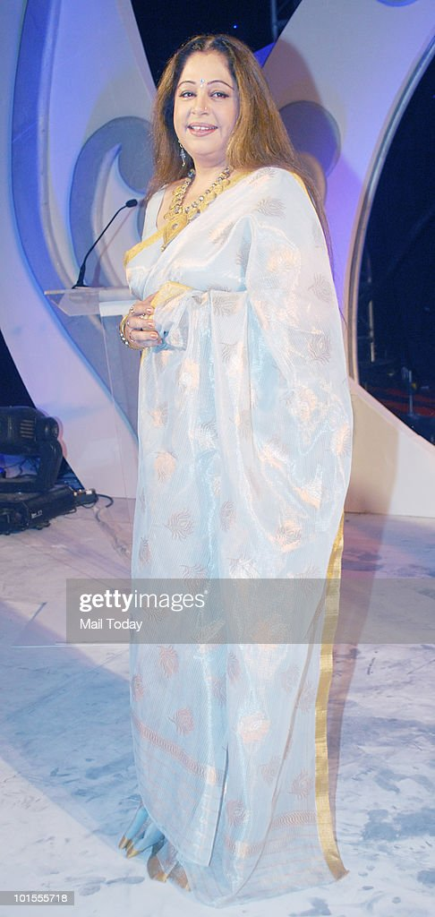 Kirron Kher at the launch of the season 2 of the Colours show India's Got Talent in Mumbai on June 1, 2010.
