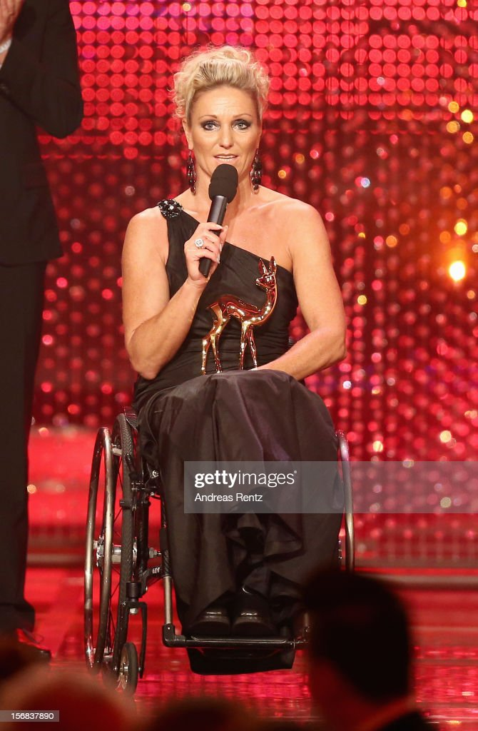 Kirsten Bruhns attends 'BAMBI Awards 2012' at the Stadthalle Duesseldorf on November 22, 2012 in Duesseldorf, Germany.