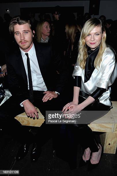 Kirsten Dunst and Garrett Hedlund attend the Saint Laurent Fall/Winter 2013 ReadytoWear show as part of Paris Fashion Week on March 4 2013 in Paris...