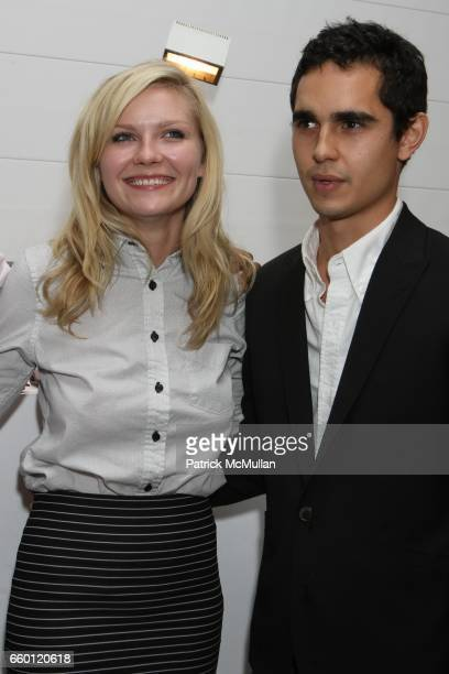 Kirsten Dunst and Max Minghella attend Band of Outsiders Presentation Powered by SONY CIERGE at Fashion Week at Milk Studios on September 6 2008 in...