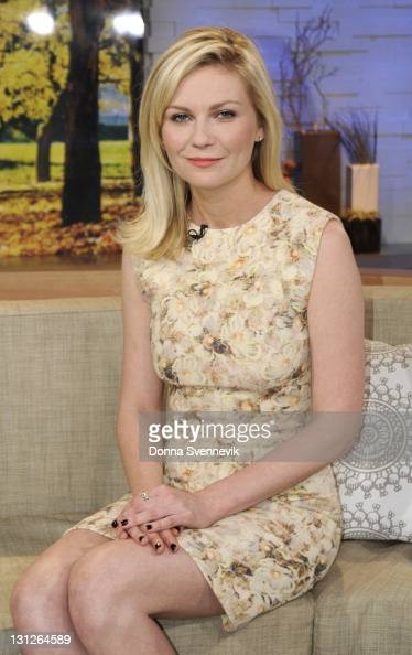 AMERICA Kirsten Dunst appears on 'Good Morning America' 11/3/11 airing on the ABC Television Network KIRSTEN