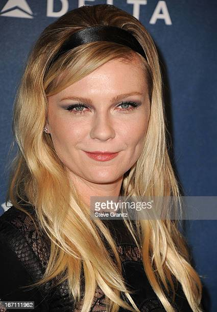 Kirsten Dunst arrives at the 24th Annual GLAAD Media Awards at JW Marriott Los Angeles at LA LIVE on April 20 2013 in Los Angeles California