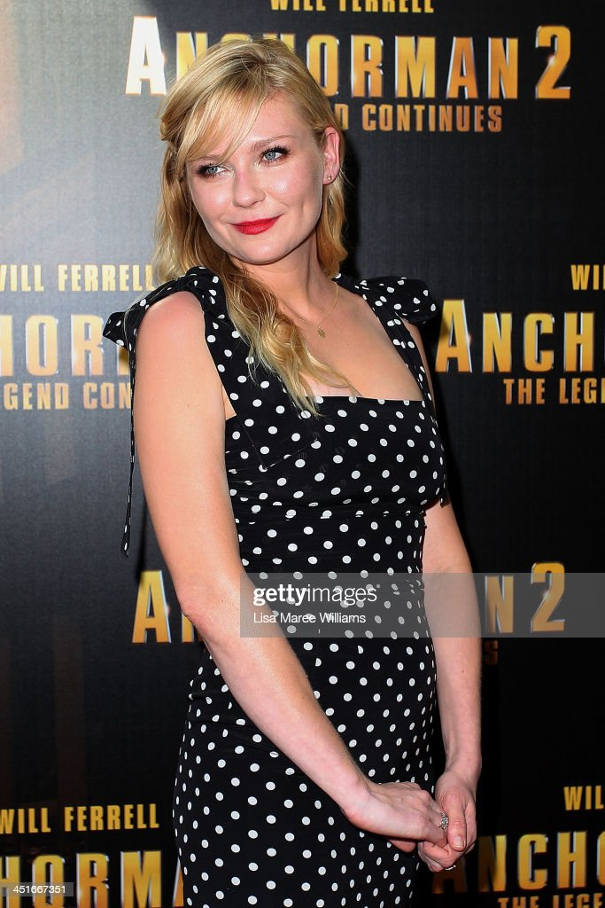 <a gi-track='captionPersonalityLinkClicked' href=/galleries/search?phrase=Kirsten+Dunst&family=editorial&specificpeople=171590 ng-click='$event.stopPropagation()'>Kirsten Dunst</a> arrives at the 'Anchorman 2: The Legend Continues' Australian premiere at The Entertainment Quarter on November 24, 2013 in Sydney, Australia.