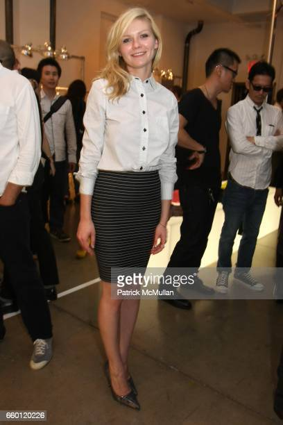 Kirsten Dunst attends Band of Outsiders Presentation Powered by SONY CIERGE at Fashion Week at Milk Studios on September 6 2008 in New York City