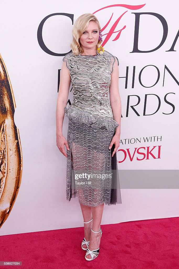Kirsten Dunst attends the 2016 CFDA Fashion Awards at the Hammerstein Ballroom on June 6 2016 in New York City