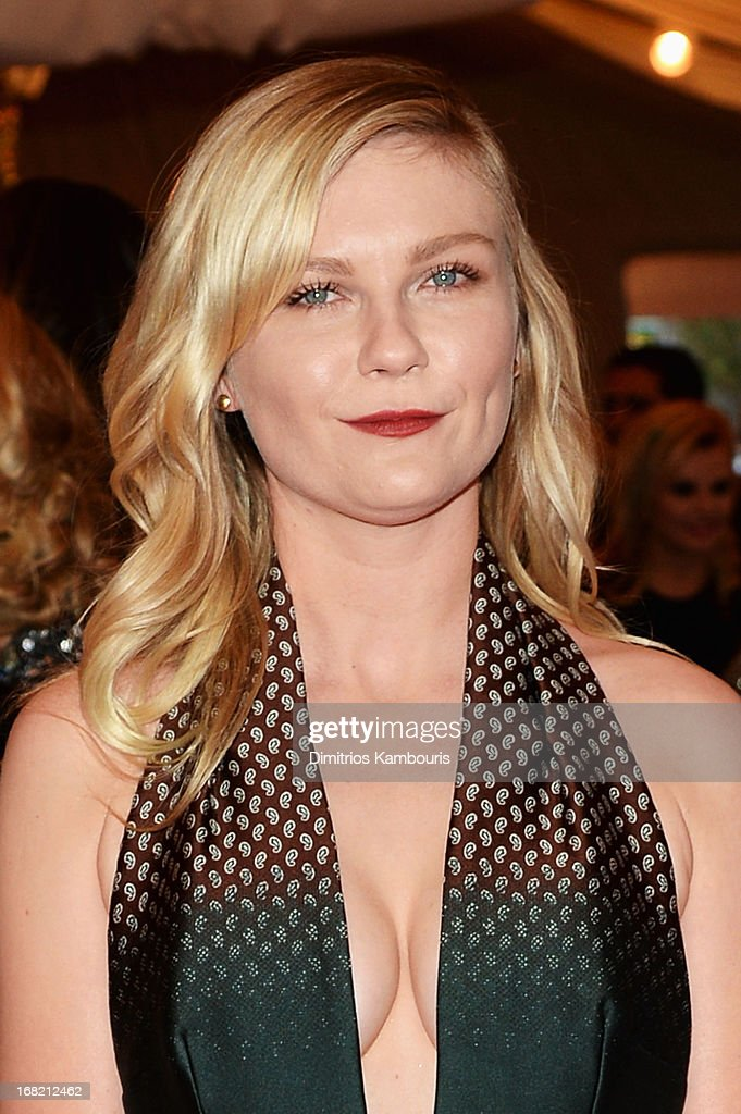 Kirsten Dunst attends the Costume Institute Gala for the 'PUNK: Chaos to Couture' exhibition at the Metropolitan Museum of Art on May 6, 2013 in New York City.