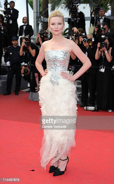 Kirsten Dunst attends the 'Les BienAimes' Premiere and Closing Ceremony during the 64th Annual Cannes Film Festival at the Palais des Festivals on...