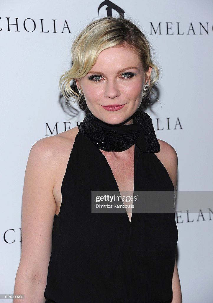 Kirsten Dunst attends the 'Melancholia' premiere after party during the 49th annual New York Film Festival at the Stone Rose Lounge on October 3 2011...