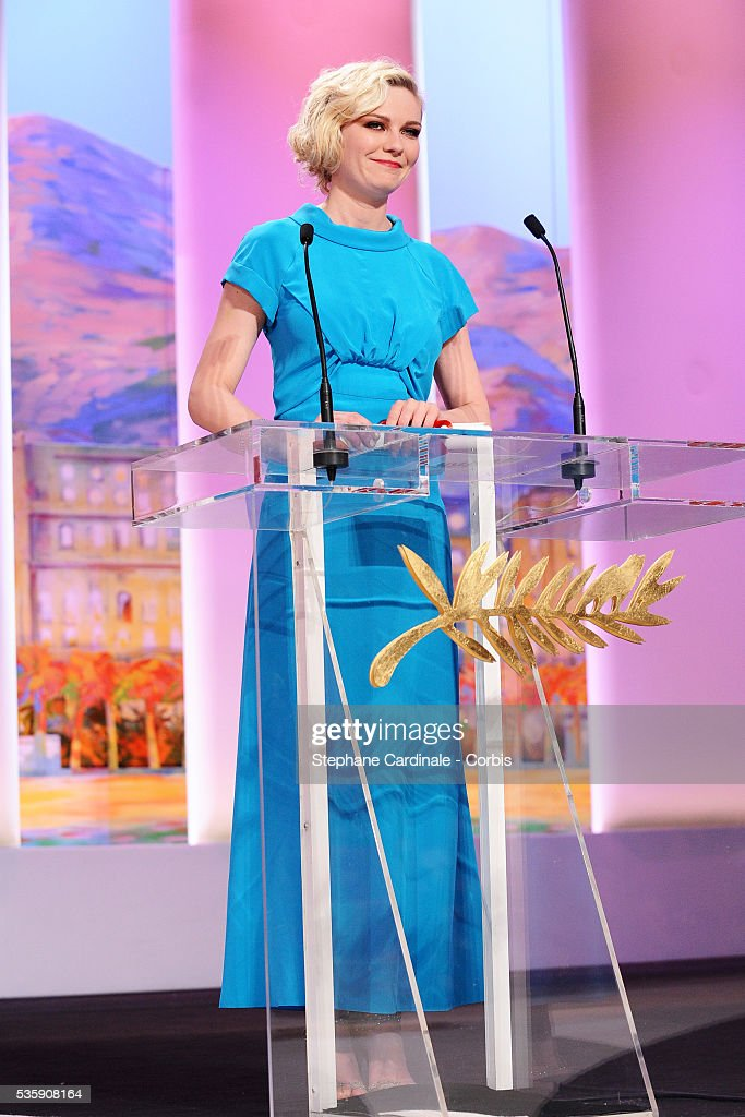 Kirsten Dunst attends the 'Palme d'Or Award Ceremony' of the 63rd Cannes International Film Festival