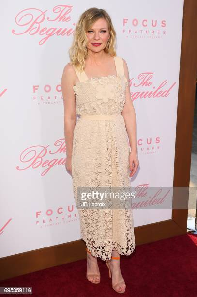 Kirsten Dunst attends the premiere of 'The Beguiled' on June 12 2017 in Los Angeles California